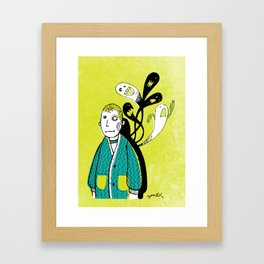 Everybody Has a Ghost or Two Framed Art Print