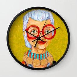 IRIS Apfel New York Fashion Icon Wall Clock