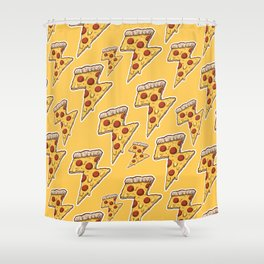 Thunder Cheesy Pizza Shower Curtain