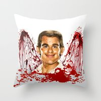 dexter Throw Pillows featuring Dexter by Giampaolo Casarini