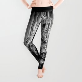 Haunted Static - Glitchy Abstract Pixel Art Leggings