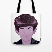 johannathemad Tote Bags featuring Chanyeol by JohannaTheMad