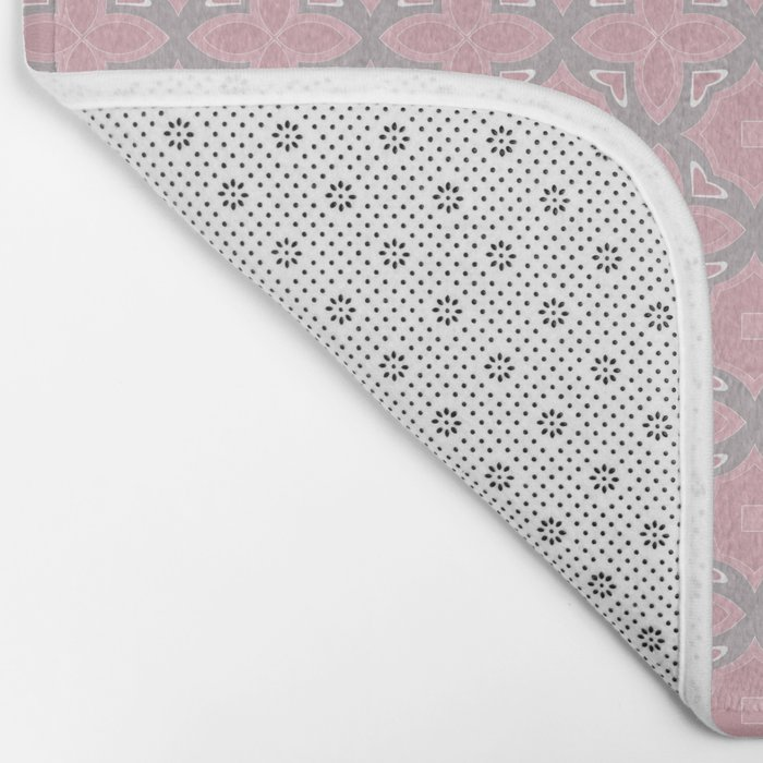 Fashionable pink and grey geometric pattern Bath Mat