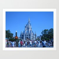 Sleeping Beauty Castle Art Print