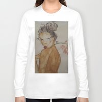 naked Long Sleeve T-shirts featuring Naked by Harlem McKinnie