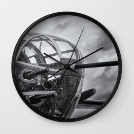 B-25 Nose Guns Wall Clock