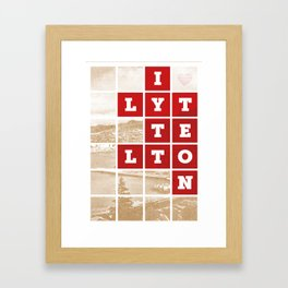 I Love Lyttelton Kraft Framed Art Print