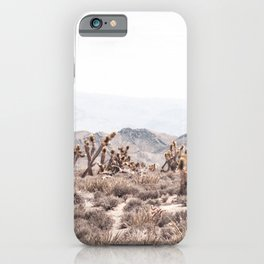 Joshua Tree // Vintage Desert Landscape Cactus Southwest Mountains iPhone Case