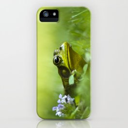 Frog Portrait iPhone Case