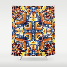 Colorful Tribal Geometry Shower Curtain
