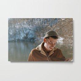 Winter Explorer Metal Print