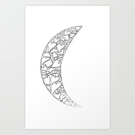 A Moon full of hearts Art Print