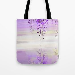 Wistearia Blossoms Reflection Tote Bag