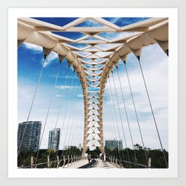 Humber Bay Park Bridge Art Print
