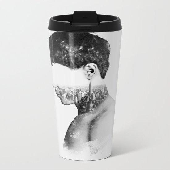 Head 2 Metal Travel Mug