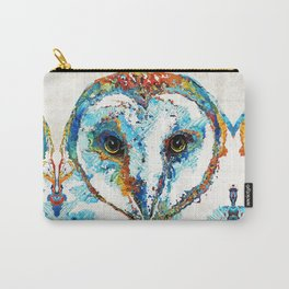 Colorful Barn Owl Art - Birds by Sharon Cummings Carry-All Pouch