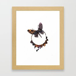 Butterfly Brooch Framed Art Print