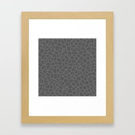 Staklo (Gray on Gray) Framed Art Print