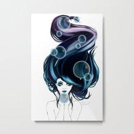Bleu Metal Print