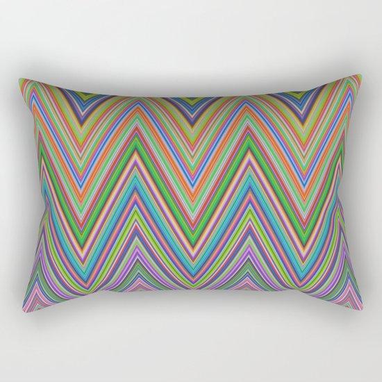 Vivid herringbones Rectangular Pillow