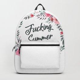 Fucking summer vintage pattern Backpack