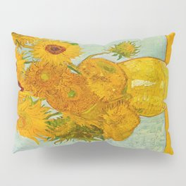 Sunflowers Oil Painting By Vincent van Gogh Pillow Sham