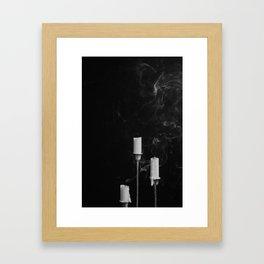 Three Candlesticks Framed Art Print