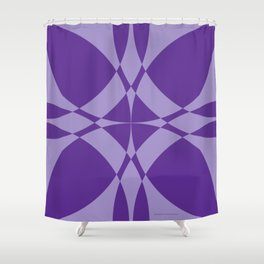 Abstract Circles - Violet Shower Curtain