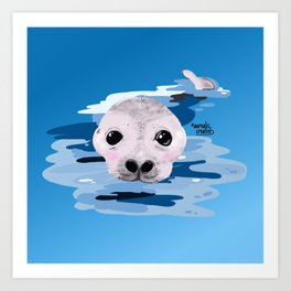 Cute otter Art Print