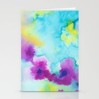 tie dye Stationery Cards featuring Tie-Dye by Tatiana Shaffer