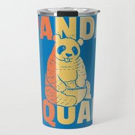 Panda Bear Big Sweet Vintage Retro Travel Mug