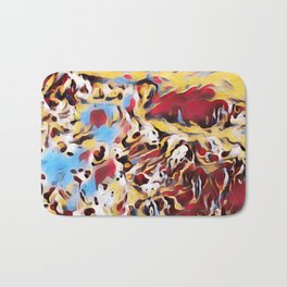 Abstract Background Bath Mat