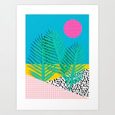 Mondo - 80's retro throwback memphis art print 1990's millennium gen x generation y dots grid  Art Print