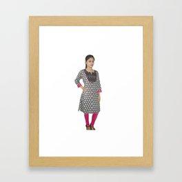 Casual Wear Printed Georgette Kurti Framed Art Print
