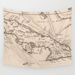 Vintage Map of Cuba (1764) Wall Tapestry