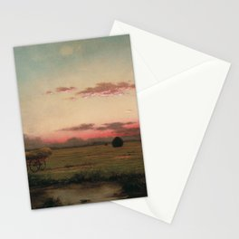 The Marshes At Rhode Island 1866 By Martin Johnson Heade | Reproduction Stationery Cards