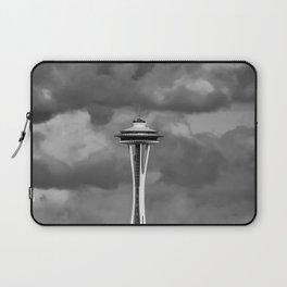 Seattle Skyline - B & W Laptop Sleeve