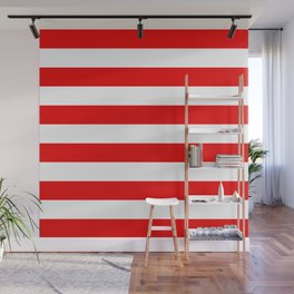 Stripe Red White Wall Mural