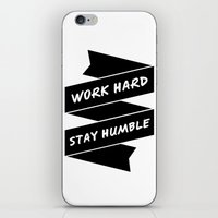 work hard iPhone & iPod Skins featuring Work Hard by WellHued