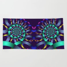 The turquoise spiral Beach Towel