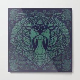 Maori Bear Metal Print