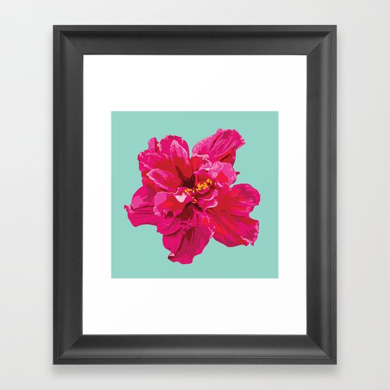 Hibiscus (Part of a Triptych) Framed Art Print