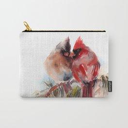 Cardinal Birds Couple Carry-All Pouch