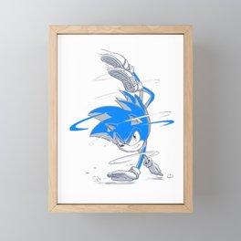 Blue Sonic  Framed Mini Art Print