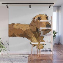 Hans the dachshund Wall Mural