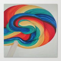 candy Canvas Prints featuring Candy  by ArtSchool