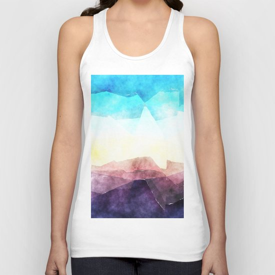 In the sea- abstract watercolor - Original triangle pattern Unisex Tank Top