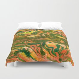 Marbleized and Glazed Duvet Cover