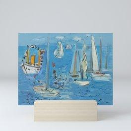 Raoul Dufy Sailboats Mini Art Print