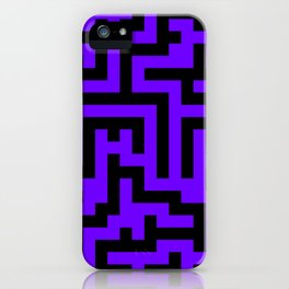 Black and Indigo Violet Labyrinth iPhone Case